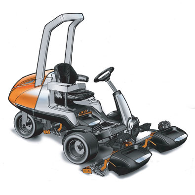 Jacobsen Eclipse 322 Golf Mower Sketch with Color
