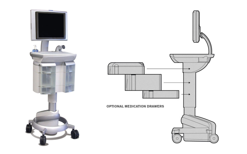 Rioux Vision Medical Cart Drawers