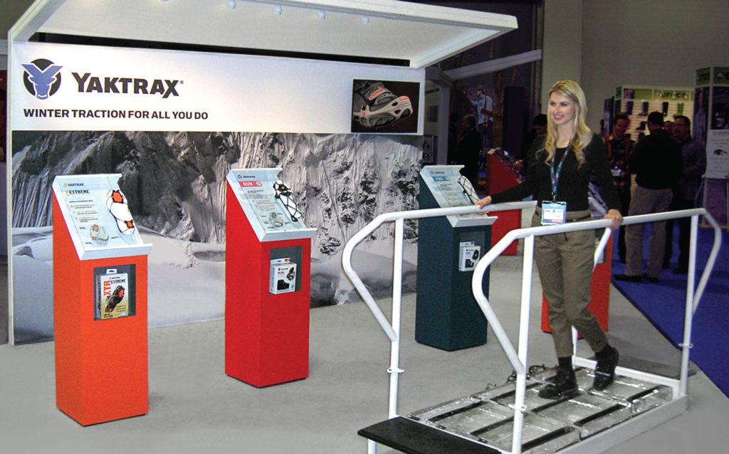 Yaktrax Tradeshow Booth
