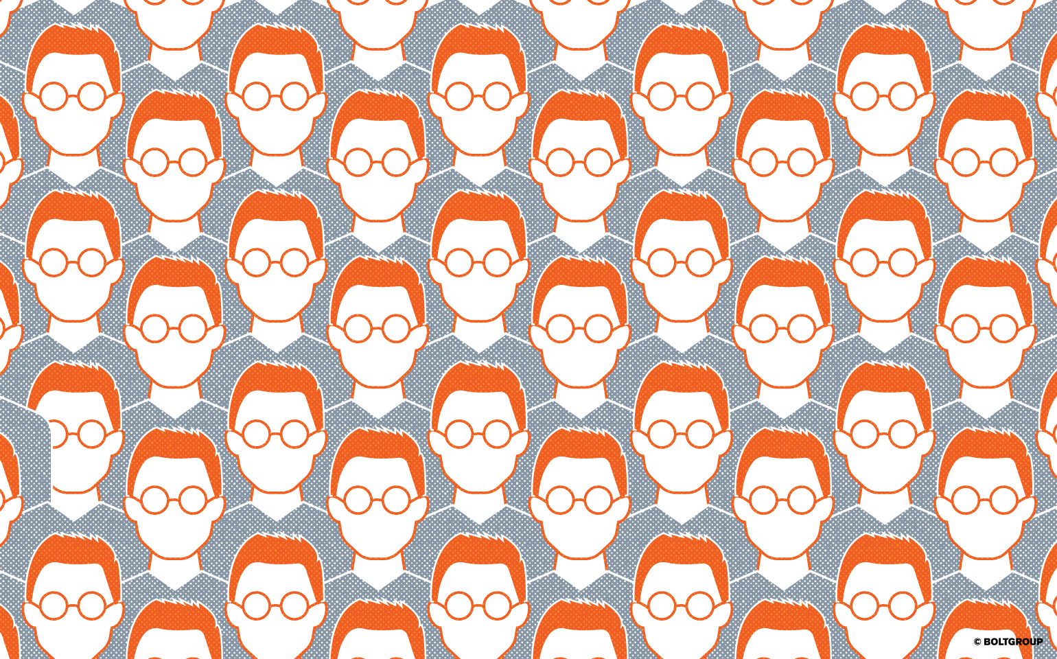 Illustration of cloned heads