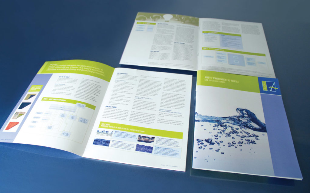 AirDye Environmental Profile Brochure