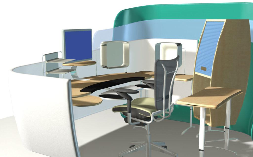 Allsteel Advance Office 3D Visualization