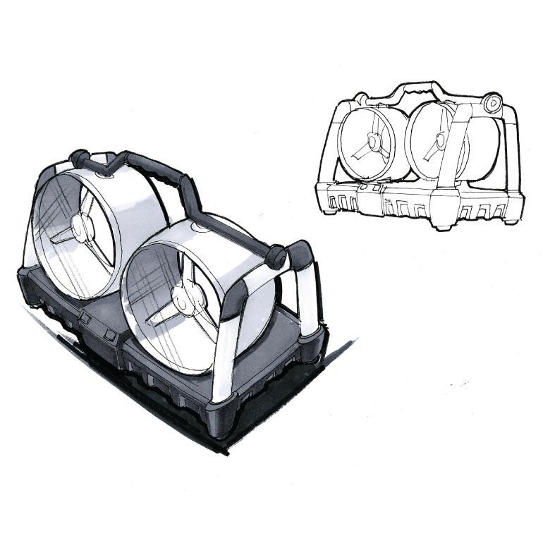 Hunter Fan DualFan Concept Sketches