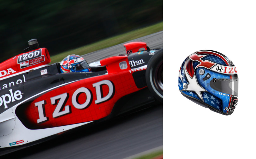 IZOD Indycar Sponsored Racecar and Livery
