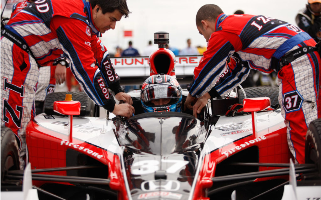 IZOD Indycar Sponsored Racecar and Livery