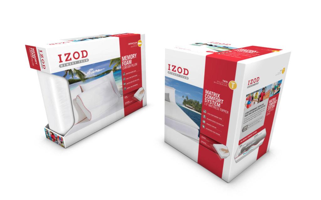 IZOD Bedding Packaging