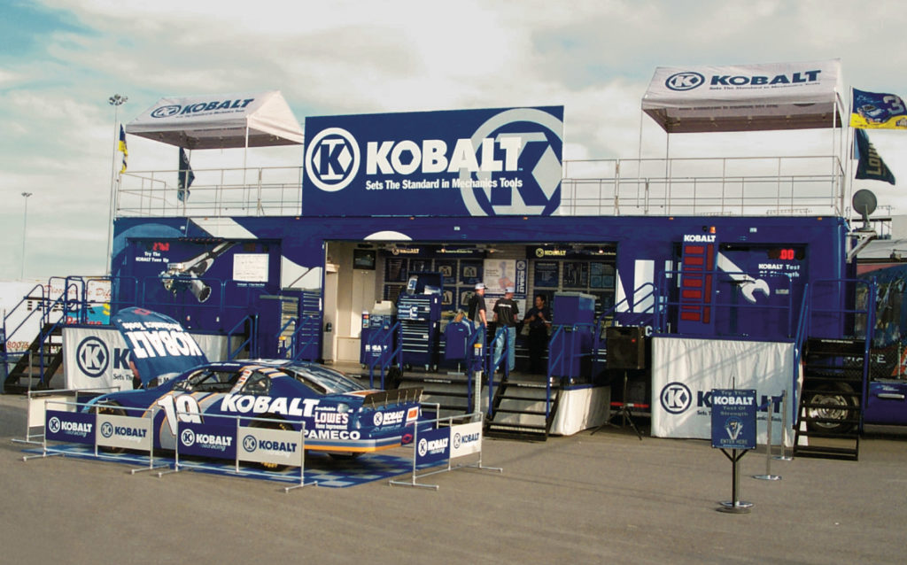 Kobalt Tools Nascar Product Introduction Trailer