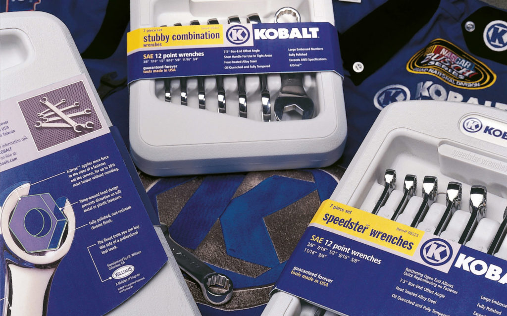 Kobalt Tools Wrench packaging