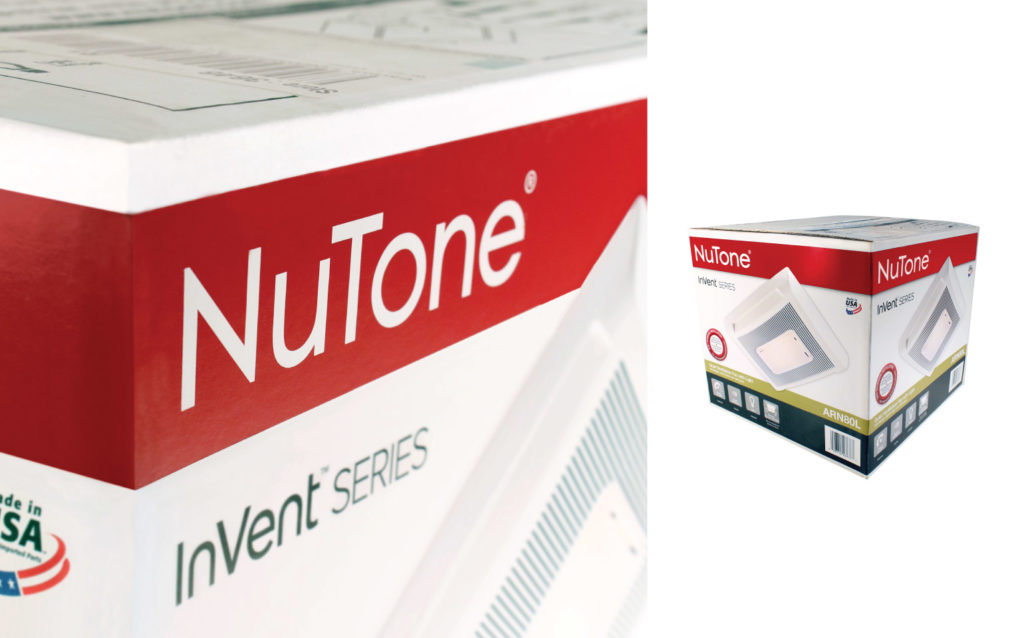 NuTone Bath Fan Packaging