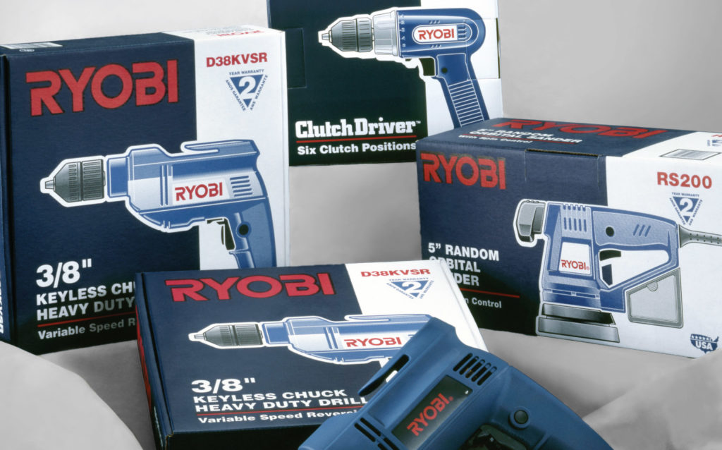 Assorted Ryobi Product Packaging
