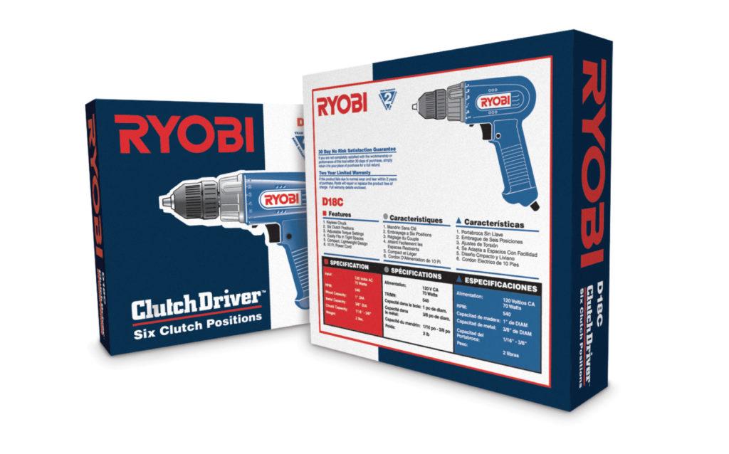 Ryobi Drill Product Packaging