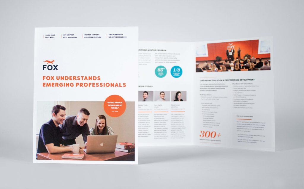 FOX Rehabilitation Printed Recruitment Brochure