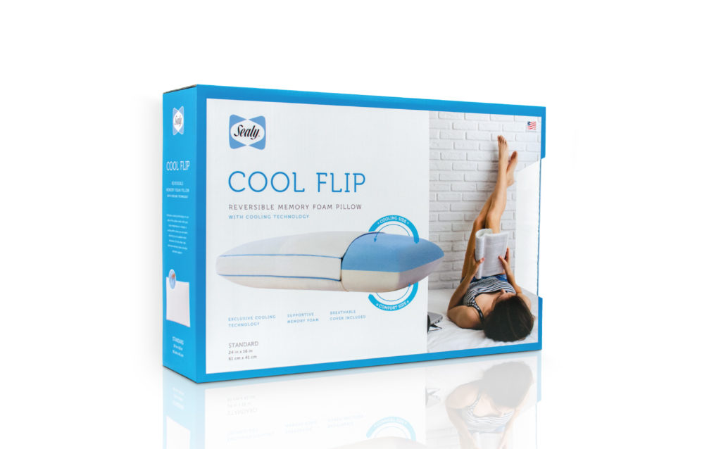 Sealy Cool Flip Pillow Packaging