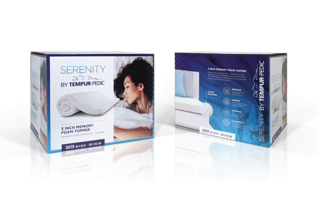 Tempur-Pedic Serenity Topper Packaging