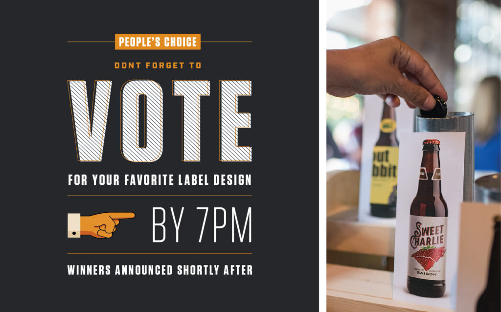 Voting at AIGA's Beer + Branding Event