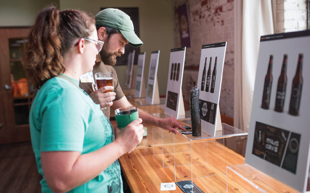 Voters at AIGA's Beer + Branding Event