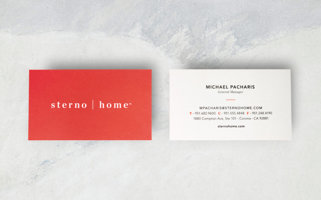 Sterno Home Business Cards