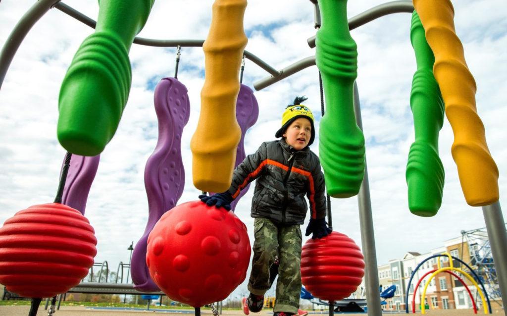 PlayCore Car Wash Inclusive Playground Equipment