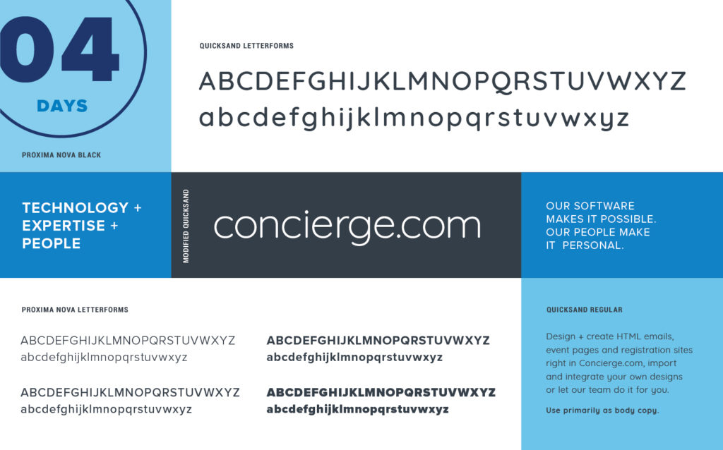 Concierge.com Typography