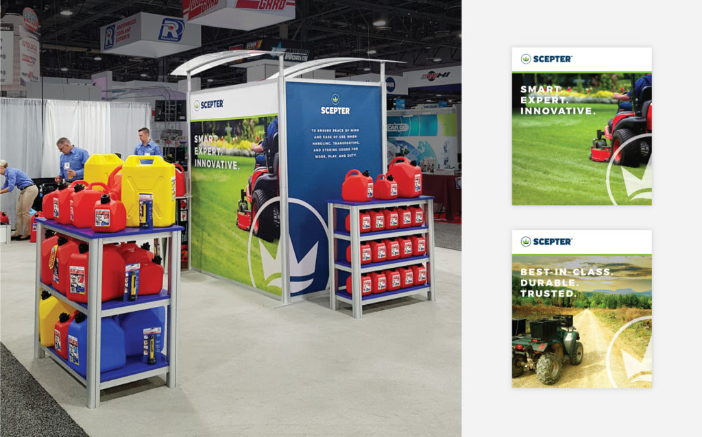 Scepter Tradeshow Booth and Posters