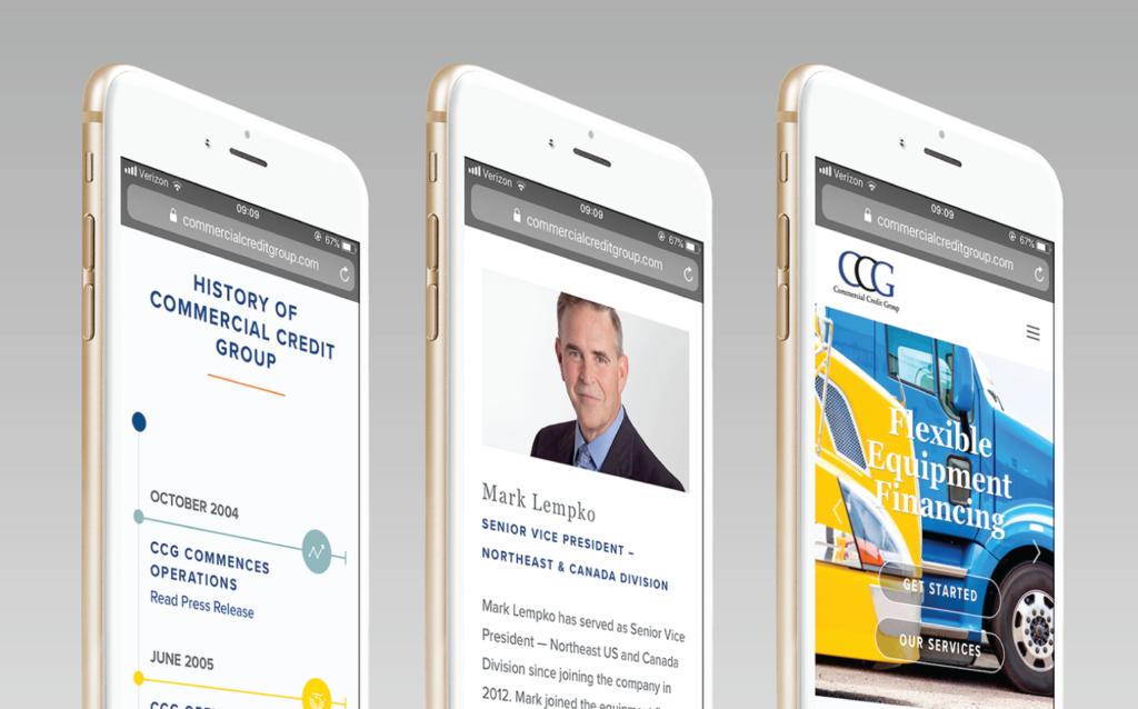 CCG Website on iPhone