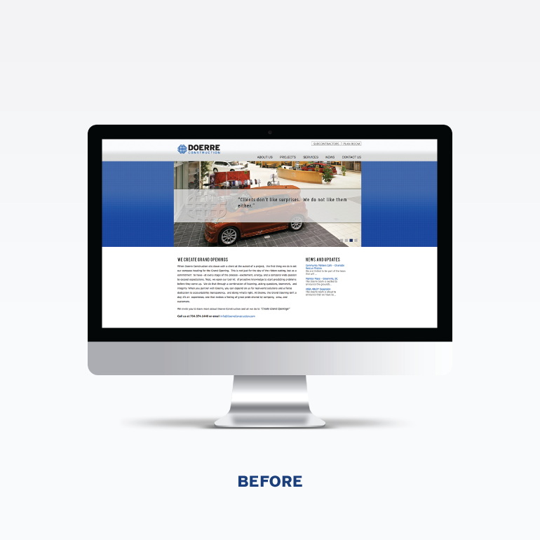 Doerre Construction Website Before