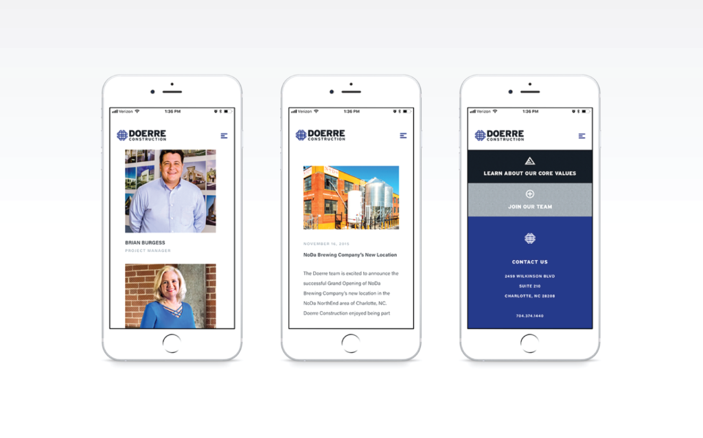 Doerre Construction Website On Mobile
