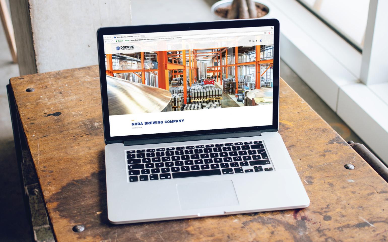 Doerre Construction Website On A Laptop