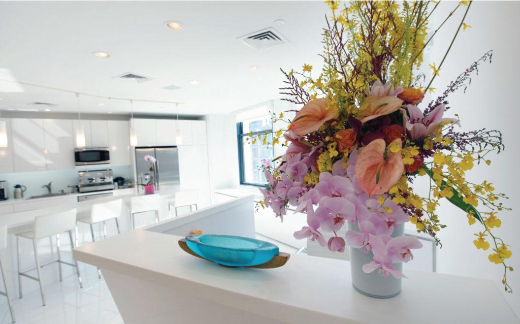 Comfort Revolution Showroom and Flower Arrangement