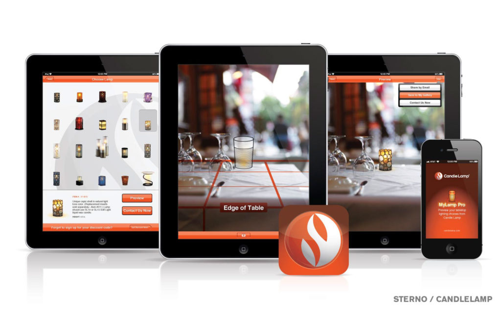 Candle Lamp App on Mobile & Tablets