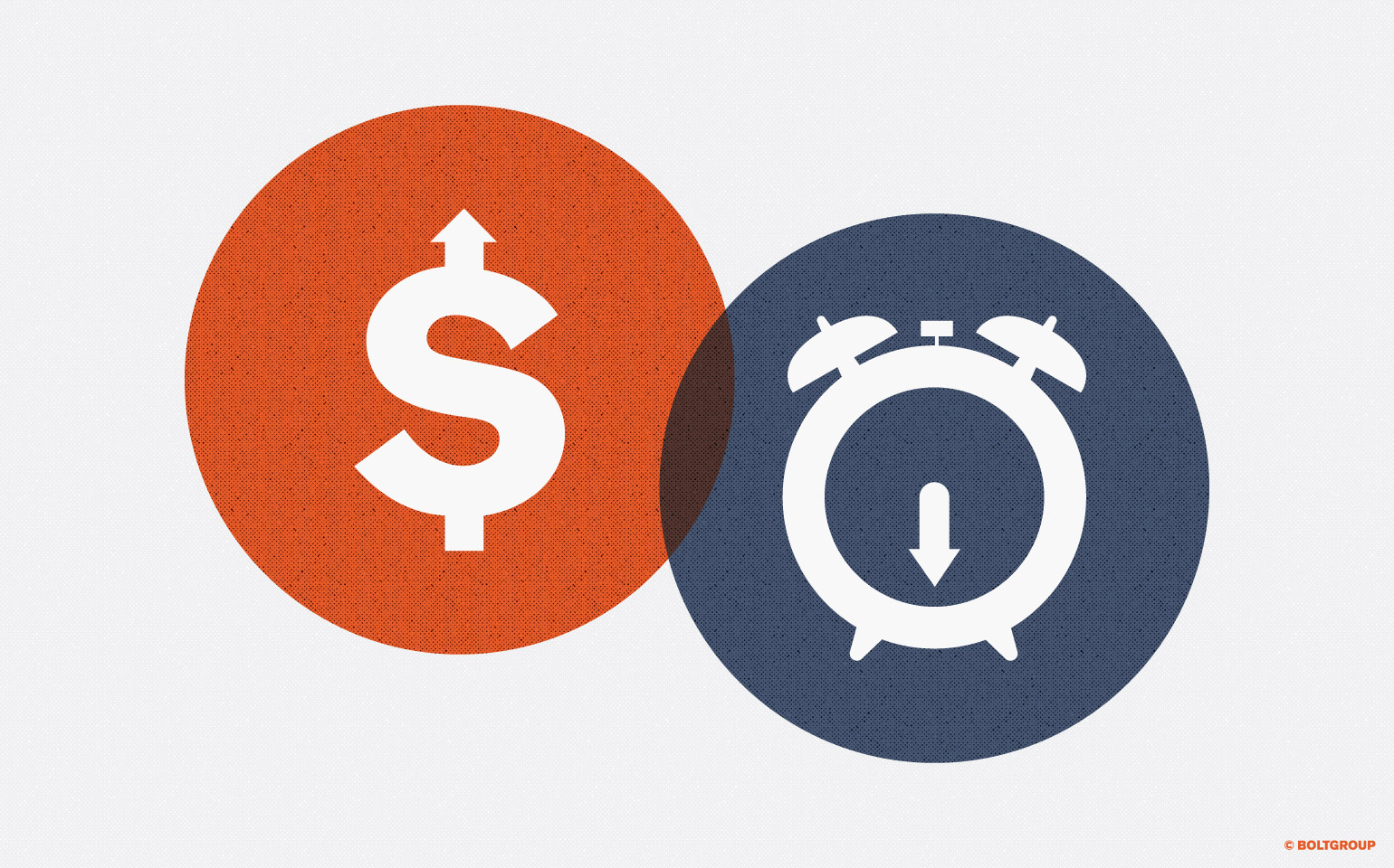 illustration of dollar sign overlapping clock