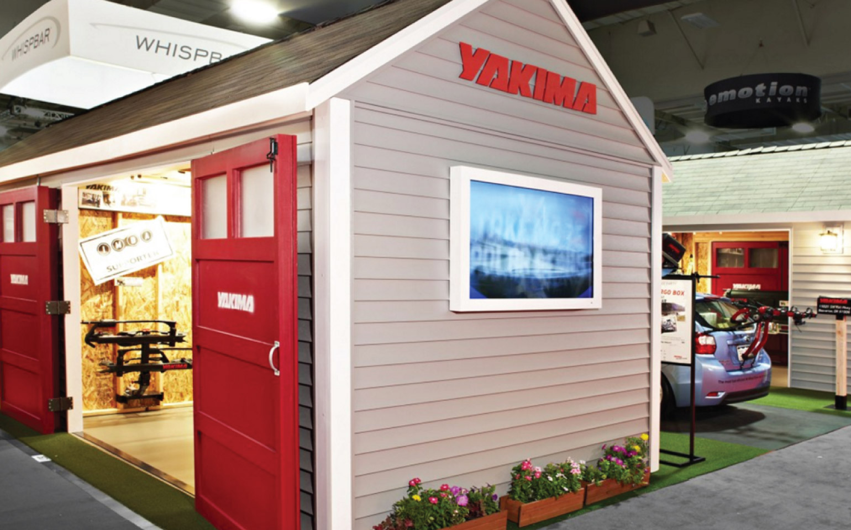 Yakima booth at tradeshow