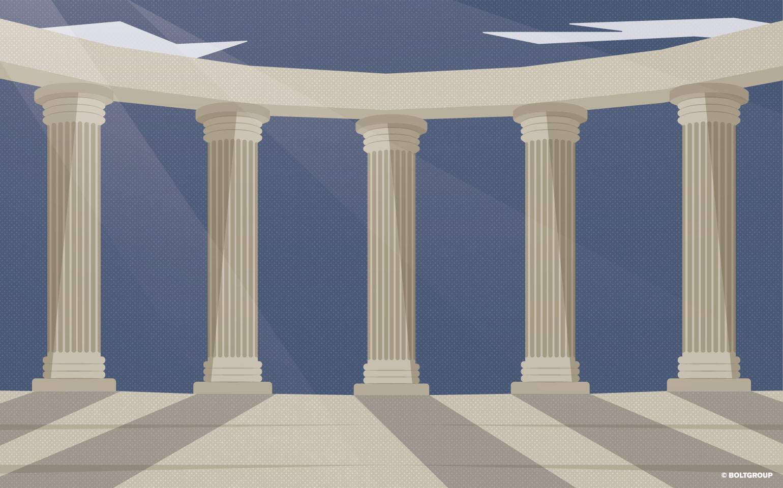 illustration of doric columns