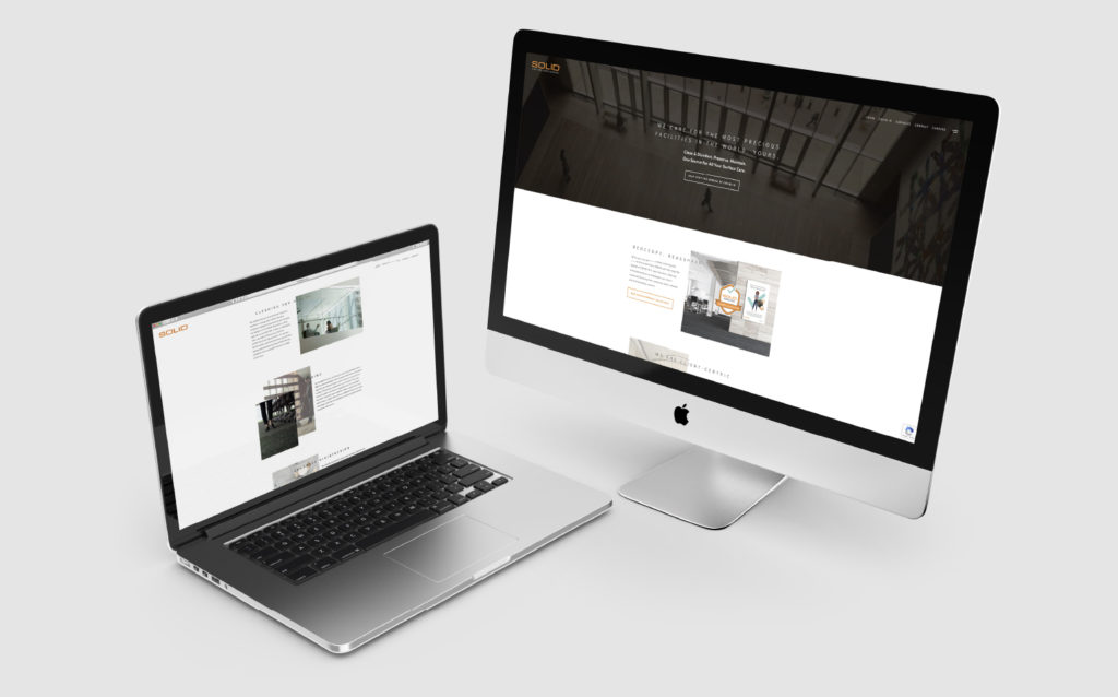 Solid Surface Care Webpage Design