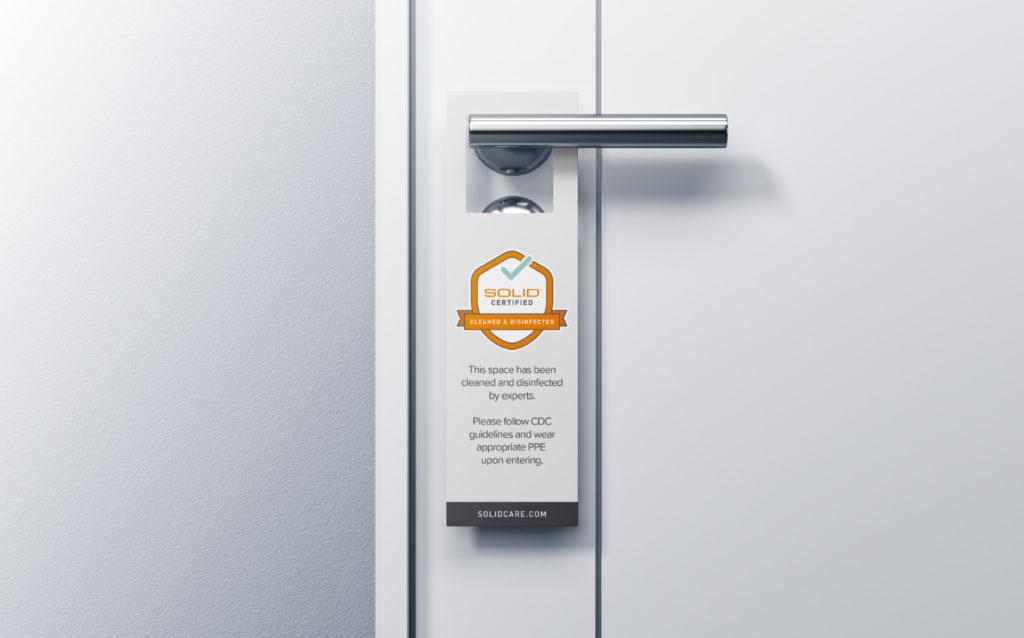 Solid Surface Care Door Hanger
