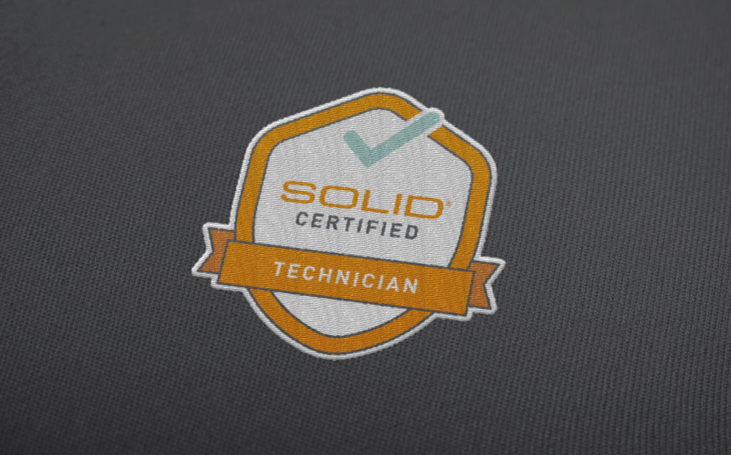 Solid Surface Care Fabric Patch