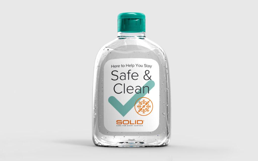 Solid Surface Care Hand Sanitizer Bottle
