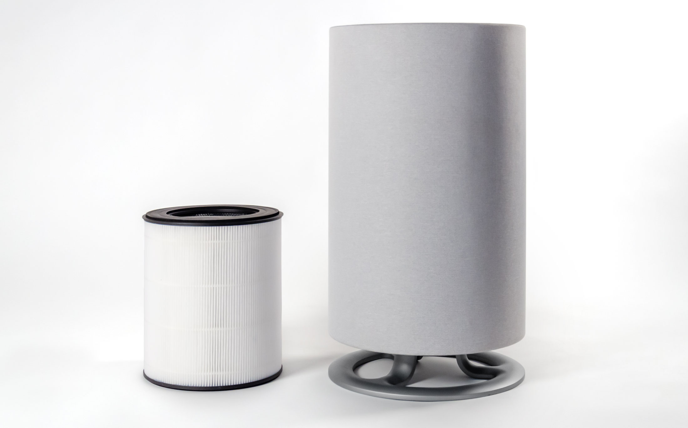 Oransi mod air purifier unit beside the filter
