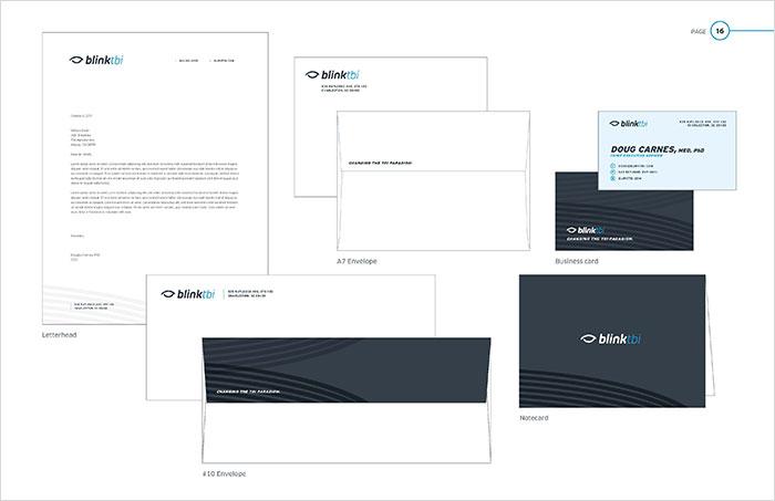 blinktbi brand standards stationery