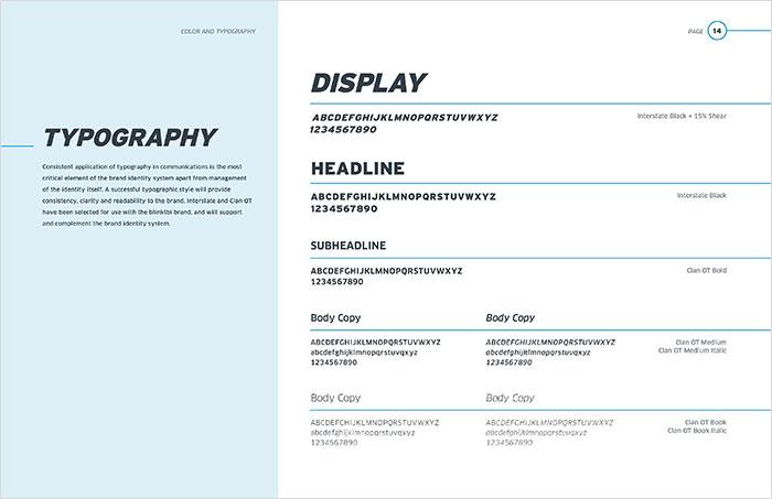 blinktbi brand standards typography