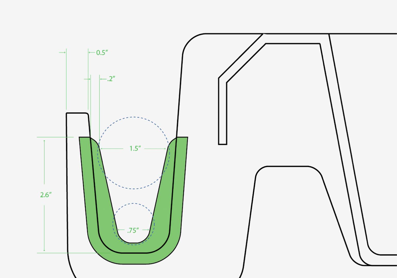 Little Burros tool handle grip detail