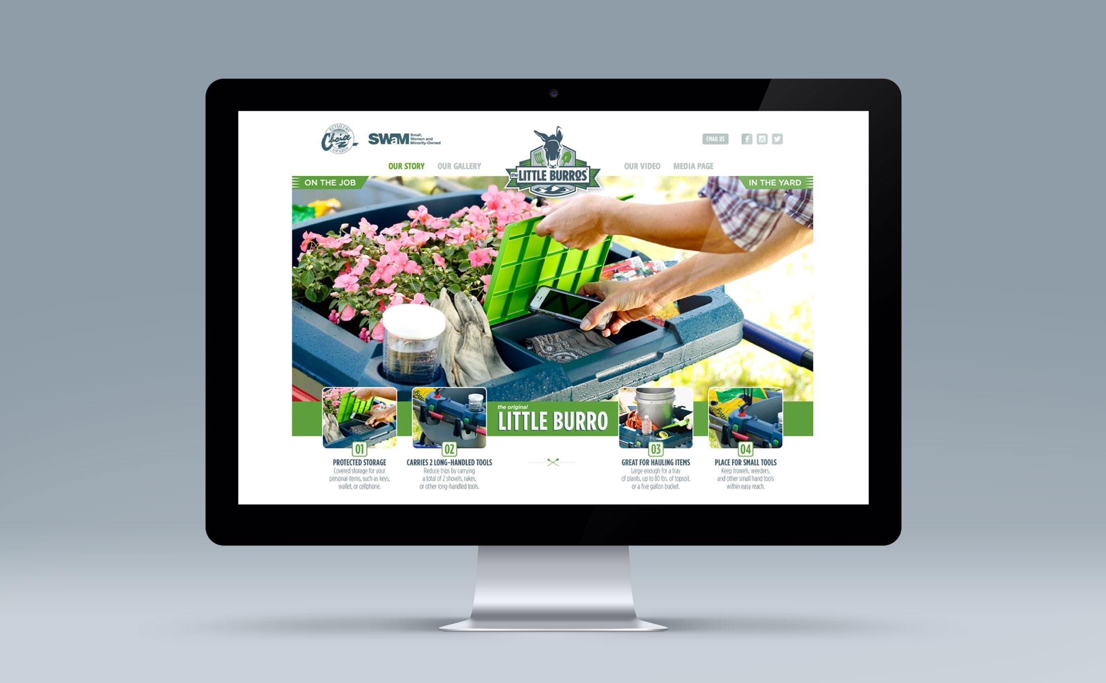 Little Burros website design