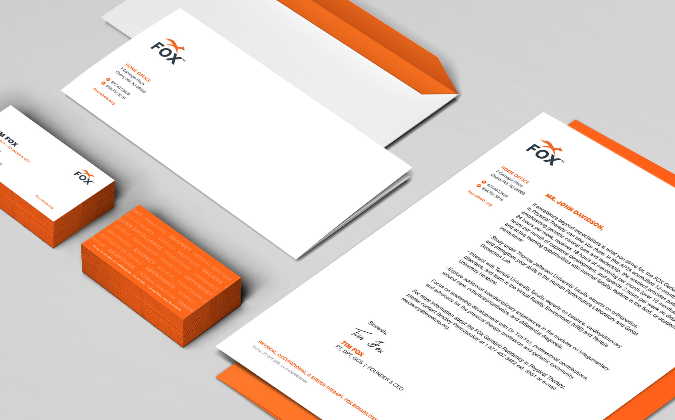 FOX Rehab Business papers