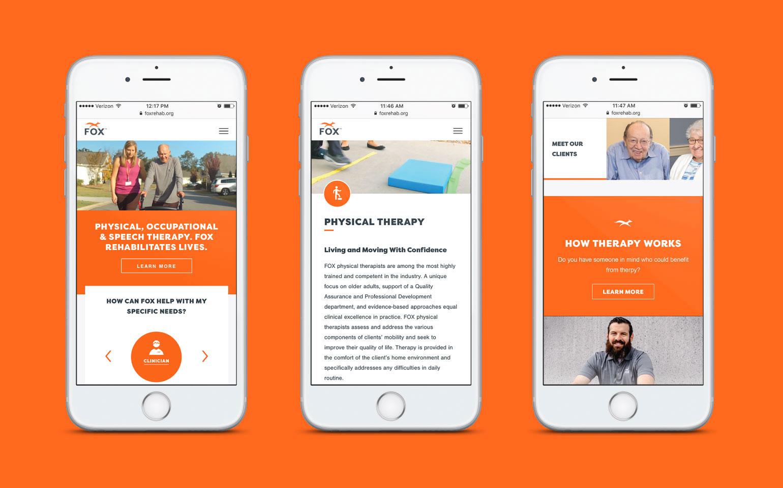 FOX Rehab Mobile Website