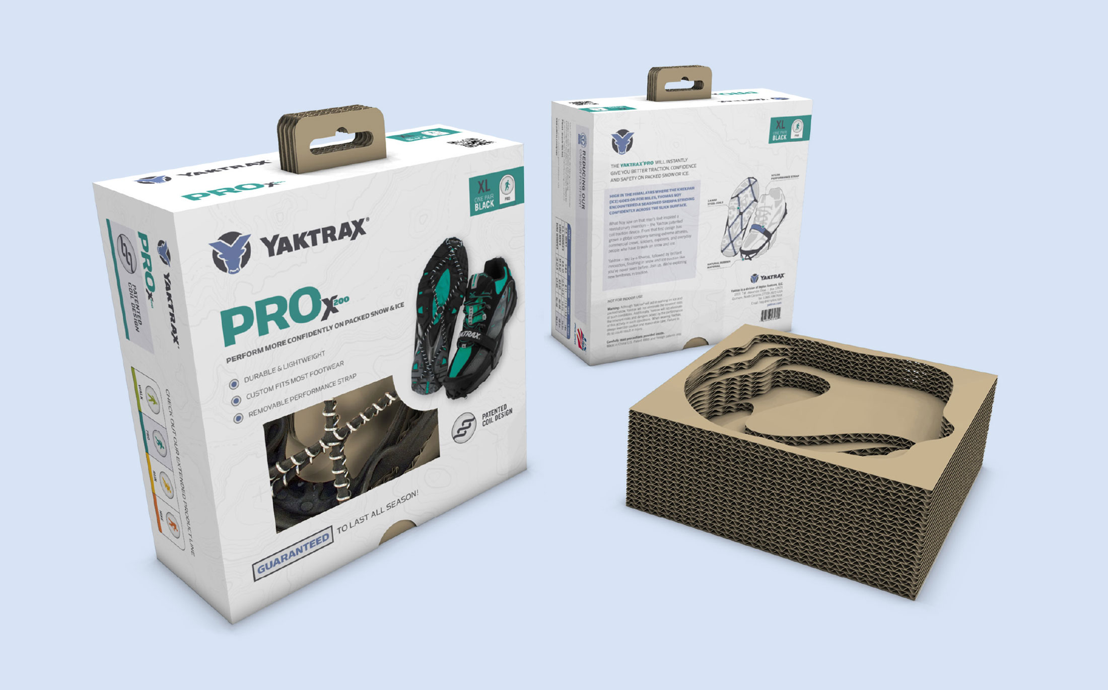 Yaktrax Product Packaging