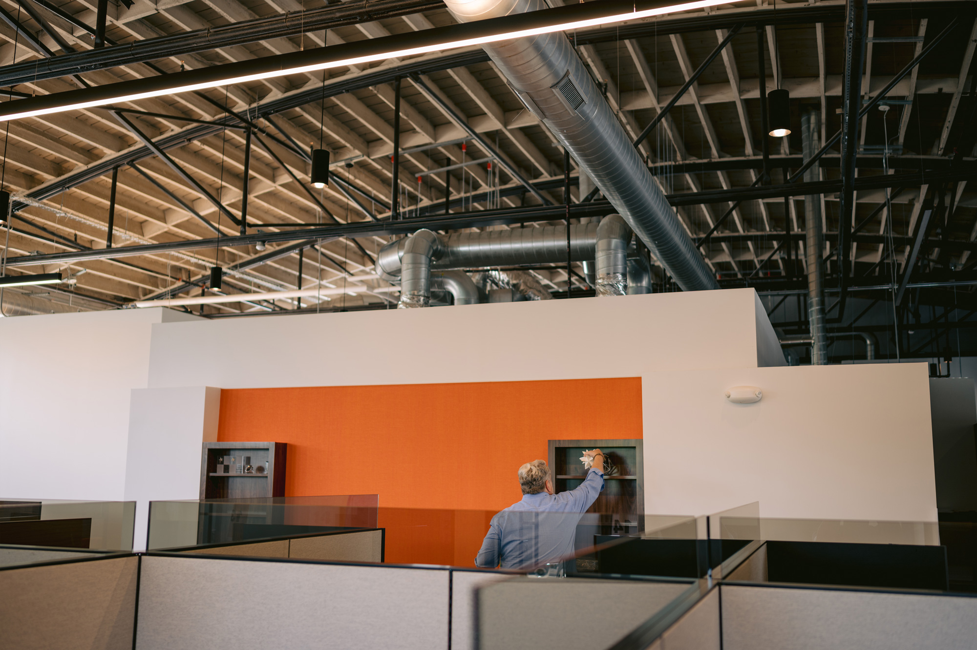 Ceiling and Display area of BOLTGROUP's new office