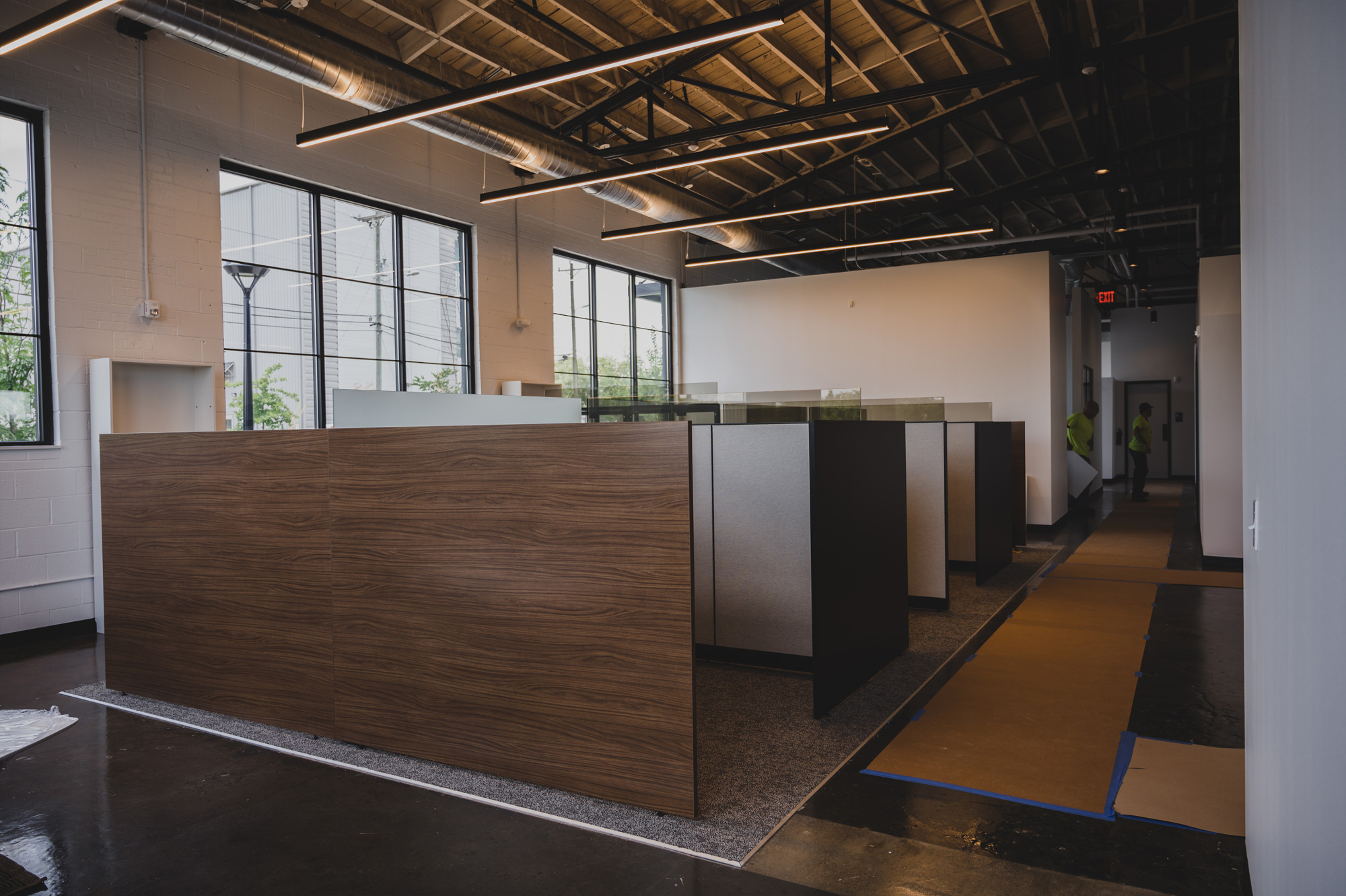 Cubicles in BOLTGROUP's new office