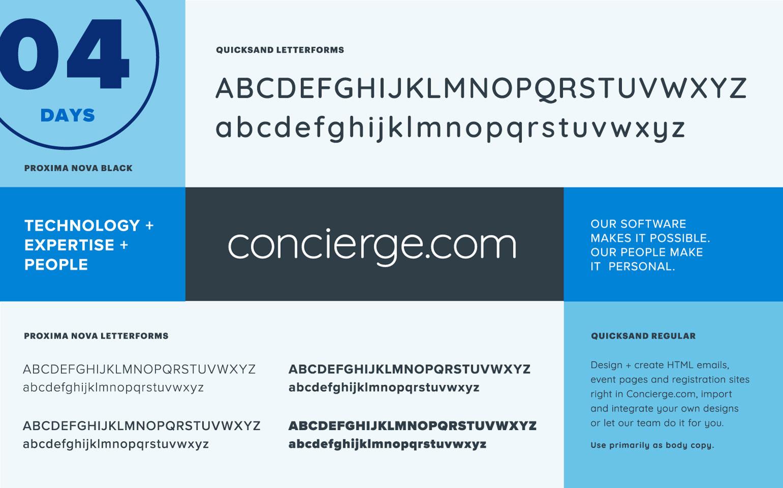 Concierge.com typography